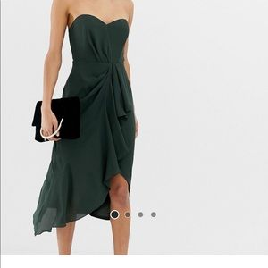 Dark Green ASOS Dress NWT